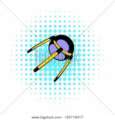 Spacecraft icon, comics style