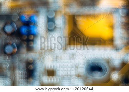 Electronic circuit  bokeh