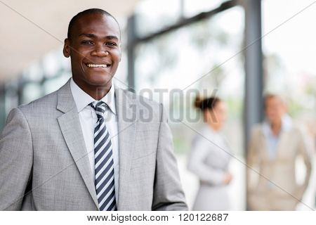 portrait of successful young afro american business man