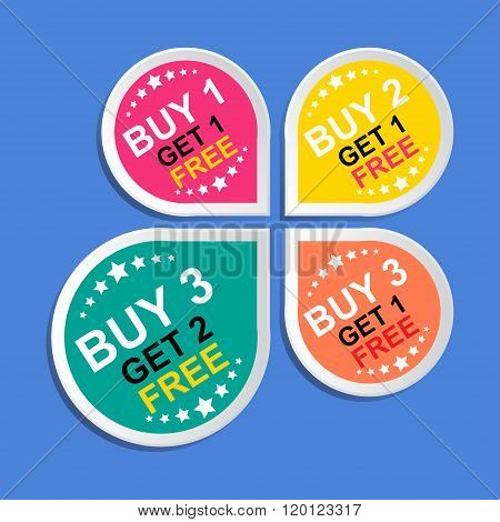 Sticker or Label For Marketing Campaign.