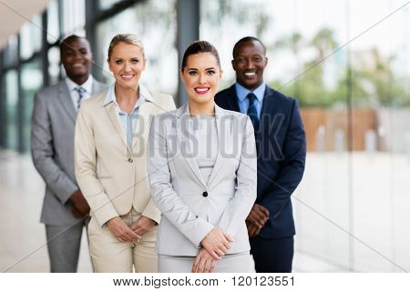 portrait of confident business people in office