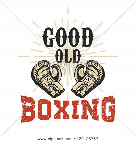 Good Old Boxing. Vector Illustration.