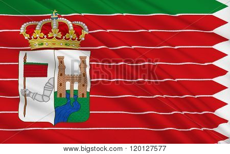 Flag Of Zamora Is A City Of Western Spain