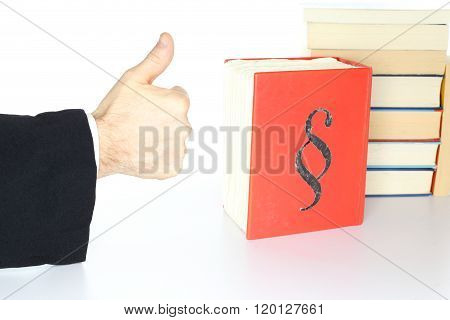 Government Symbol With Thumb Up