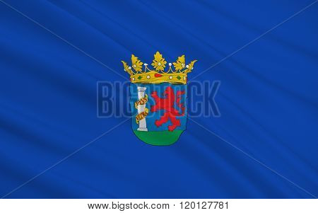 Flag Of The Province Of Badajoz Is A Province Of Western Spain