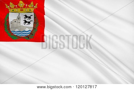 Flag Of Bilbao Is A Municipality And City In Spain