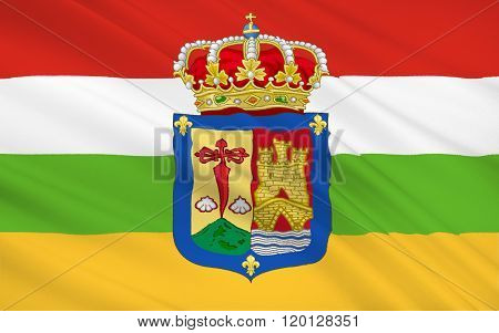 Flag Of The La Rioja Is An Autonomous Community And A Province In Spain