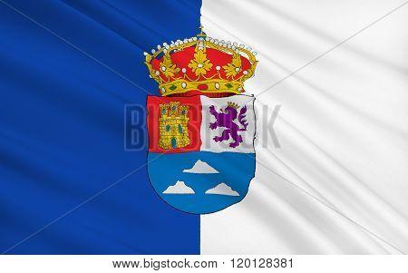 Flag Of Las Palmas Is A Province Of Spain