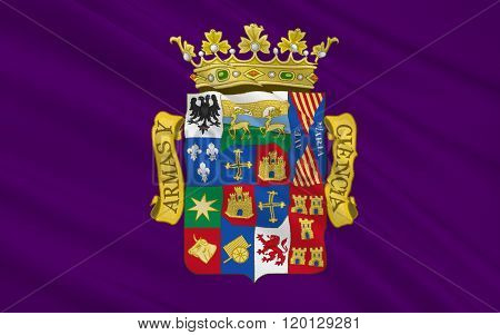 Flag Of Palencia Is A Province Of Northern Spain