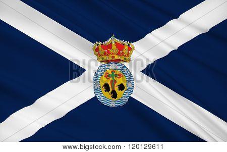Flag Of Santa Cruz De Tenerife Is A Province Of Spain