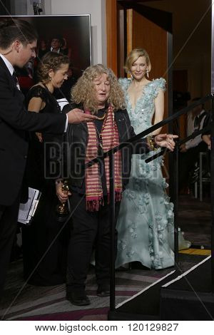 LOS ANGELES - FEB 28:  Jenny Beaven, Cate Blanchett at the 88th Annual Academy Awards - Press Room at the Dolby Theater on February 28, 2016 in Los Angeles, CA