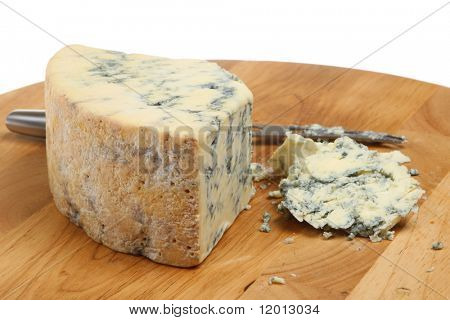 Stilton cheese with cheese knife