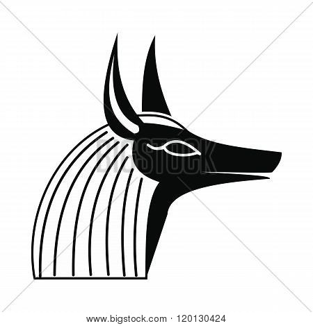Anubis head icon, simple style