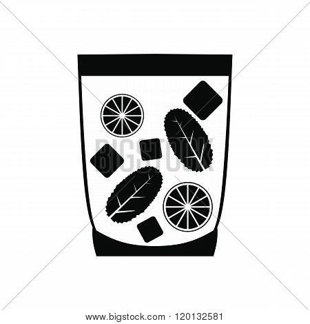 Caipirinha cocktail drink icon, simple style