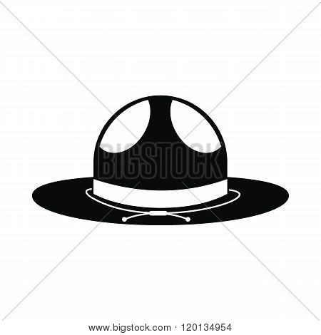 Cowboy hat icon, simple style
