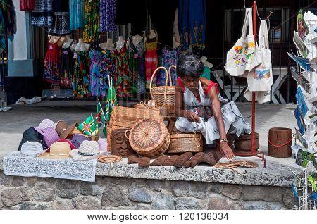 Roseau Dominica Waterfront Vendor