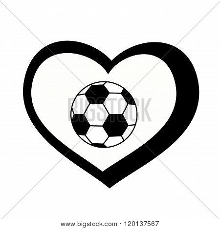 soccer ball heart