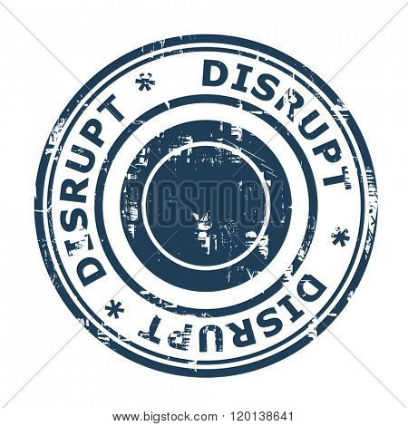 Disrupt business concept stamp isolated on a white background.