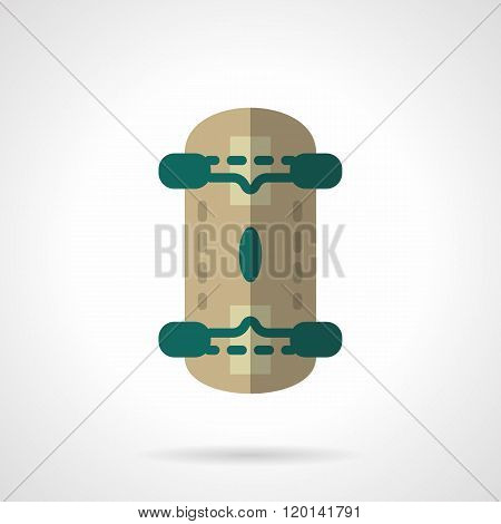 Skateboard flat color design vector icon