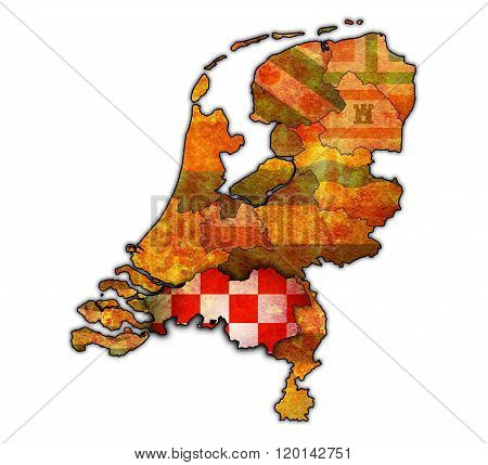 North Brabant On Map Of Provinces Of Netherlands