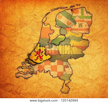 South Holland On Map Of Provinces Of Netherlands