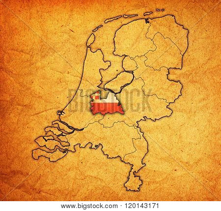 Utrecht On Map Of Provinces Of Netherlands
