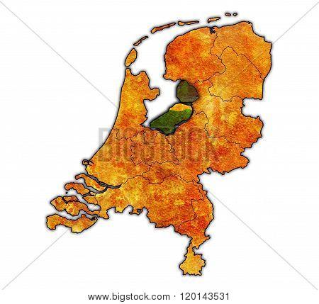Flevoland On Map Of Provinces Of Netherlands
