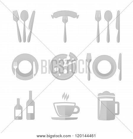 Icons for restaurant.