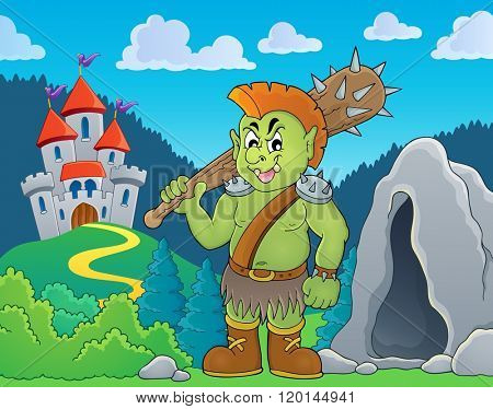 Orc theme image 4 - eps10 vector illustration.