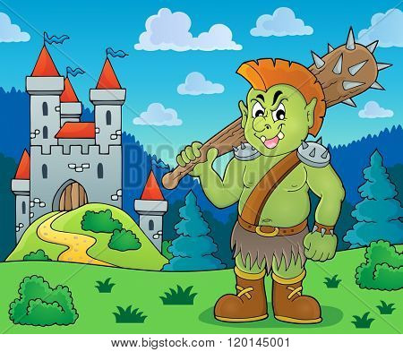 Orc theme image 5 - eps10 vector illustration.