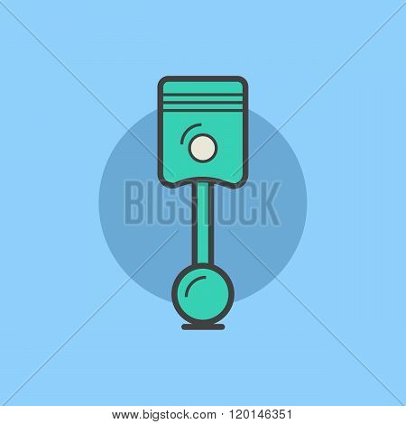 Car spare vector concept. Car spare logo. Car spare icon in flat style