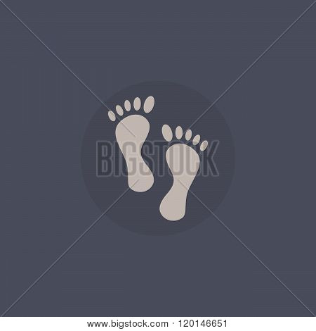 Shoes step print icon. Shoes step print vector concept. Shoes step print icon in flat style