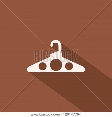 Hanger silhouette flat design