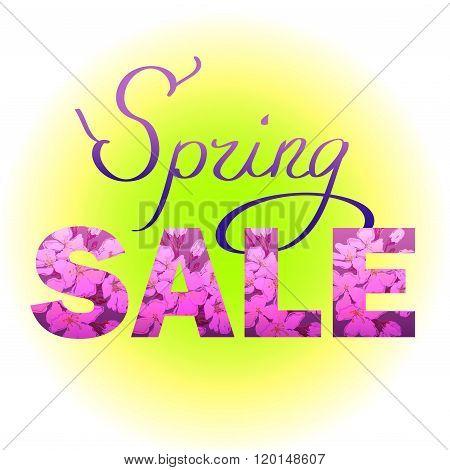 Spring sale design.