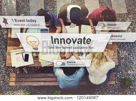 Innovate Innovation Technology Development Aspiration Concept