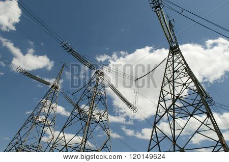 Heaven-high High-voltage Power Line Pylons