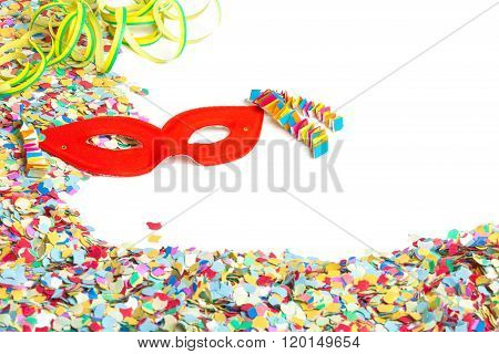 Confetti, Mask, Streamers