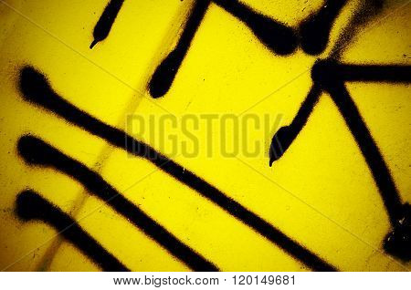 Dramatic Grunge Rusty Yellow Metal Old Gate Surface - Creative Industrial Background For Your Design