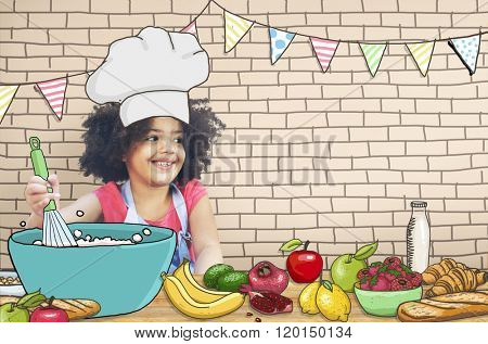 Children Kids Cooking Kitchen Fun Concept