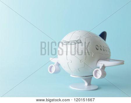 Plastic 3D Aeroplane Puzzle
