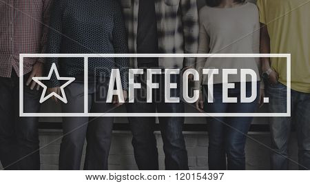 Affected Effect Influenced Reason Cause Result Concept