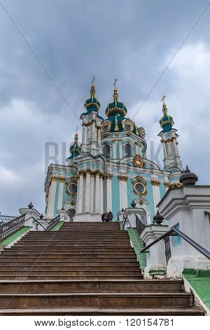 St. Andrew's Church In Kiev, Ukraine