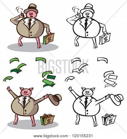 Wealthy Businessman Pig