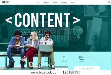 Content Data Social Media Publication Concept