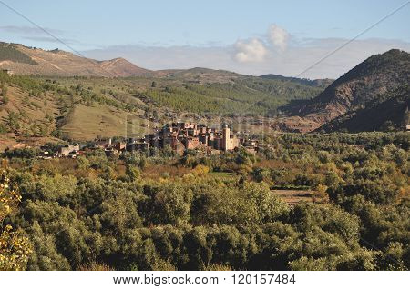 A typical Berber village in the High Atlas region of Morocco
