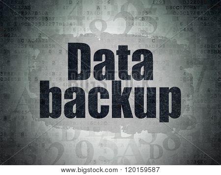 Data concept: Data Backup on Digital Paper background