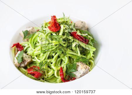Raw Vegan Cucumber Noodles