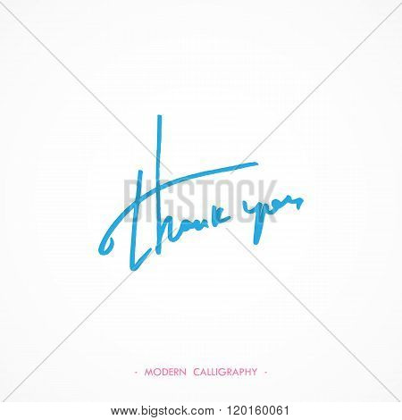 Thank You calligraphy. Vector illustration.