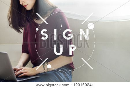 Sign Up Registration Membership Joining Concept