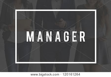 Manager Management Coaching Corporate Leadership Concept